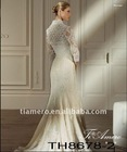Vintage lace wedding dresses with detachable jacket