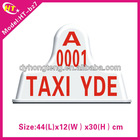 New neon taxi roof light magnet or pull hook type slim led auto taxi roof lights