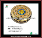 Elegance Metal Tin Case / Container/ Box with Transparent Window for Cookies/Candy/Coffee