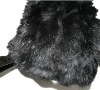 ladies black rabbit fur cap