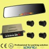 LED curved mirror parking rear sensor with wide angle rearview