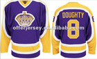 Free shipping Kings #8 Drew Doughty purple color Authentic jerseys ice hockey jersey size:48-56 Wholesale Mixed Order