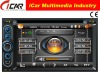 (iCar-6218)HOT Double Din 6.2'' touch screen,GPS,Bluetooth,TV,IPod car radio dvd cd gps