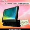 "7"" Full automatical indash touch monitor with FM/AM/Amplfier/ VGA/SD/CF card reader/2 vedio input"