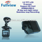 """CDVR-W-621----HD 720P car dvr h.264 with Seamless loop Recording and G-sensor with 2.5"""" LCD Screen"""