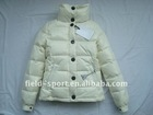 2011 Hot sell lady's down jacket. short style cream down wear .