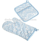 100 cotton printed baking oven mitt and kitchen potholder
