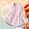 2012 new season fashion kids dress lace OEM China maker