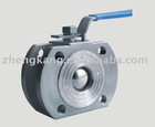 DIN wafer type Ball Valve Stainless Steel WITH ISO 5211 'Direct Mount'