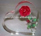 crystal paperweight gift/acrylic lucite tabletop wedding souvenir