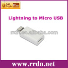 Lighting 8 Pin to Micro USB Adapter for iPhone 5/Mini iPad