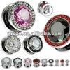 316l stainless steel ear tunnel body plugs piercing jewelry