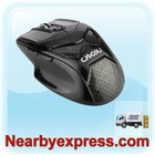 2.4G Wireless PC game Optical Mouse brilliant black 6 button