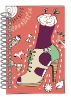 Attractive color soft cover spiral notebook for lady