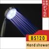 BS120 LED hand shower,light water saving shower head,no bettery, shower head sprayer,bathroom,rain shower,rainfall