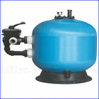 Pool side-mount valve sand filter,swimming pool water filters,blue sand filter