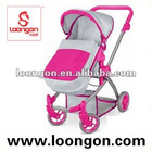 Loongon metal doll stroller with sunshade girl toys