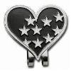 Heart shape golf hat clip