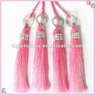Lovely pink curtain tassel with crystal bead