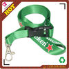 100% nylon green neck strap/lanyard with silk-screen printing,sample and design free!