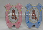 Zink alloy baby photo frame