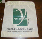 Hot sales Two-layer plastic Drawstring handle shopping bag