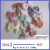 Lot of 10 cute infant hair clips with bows BABY