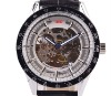 small order 100pcs Custom LOGO Automatic Movement Mechanical Skeleton Mens Watches ymsk-0003