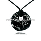 circularity Murano Lampwork Glass Pendant Necklace