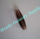 smooth coconut shape decorative crystal loose bead