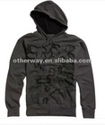 Men's problem unsolved zip up hoody charcoal
