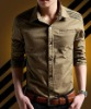 Casual long sleeve mens shirt