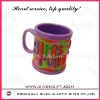 eco-friendly fashional design letter soft pvc mug