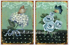 Butterfly and flower vintage metal sign/iron sign/tin sign for /home,shop,bar,garden,outdoor decor/antique plaque/garden hanging