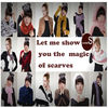 latst design hot sale popular solid color wholesale polyester magic scarves show your charms easy to catch his eyes