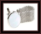 fashion oval mother of pearl chain cuff link sets