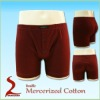 100%Double mercerized cotton mens underwear boxers knitted