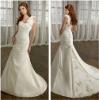 Sweet yet Cool A-line One Shoulder White Satin Hand Flowers Designer Bridal Dresses