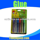 3D colored gliter glue