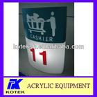 acrylic supermarket oval cashier's light box