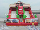 car double lane inflatable slide B4059