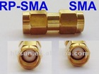 Female to Male RP-SMA to RF-SMA Coaxial Connector Adapter