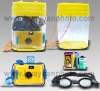 Relodable underwater lomo camera gift set with 35mm color film