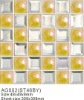 Hat Glass & Metal Ceramic Mosaic Tile(AG002)