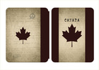 For New IPAD Leather Case Canada flag case