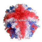 Football/Soccer Wig for Fan Supporters In Union Jack Flag Design