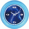 Neon light Clock With Chrome frame