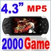 "8GB 4.3""LCD PSP PMP MP3 MP4 MP5 Player with Camera 2000 Games video camcorder"