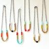 rosary chunky bead necklace