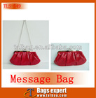 up to date shiny red PU clutch bag with gold chain